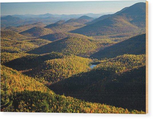 Mountain Shadows Wood Print