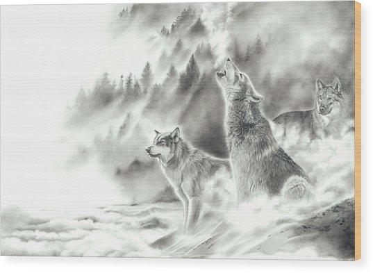 Mountain Spirits Wood Print