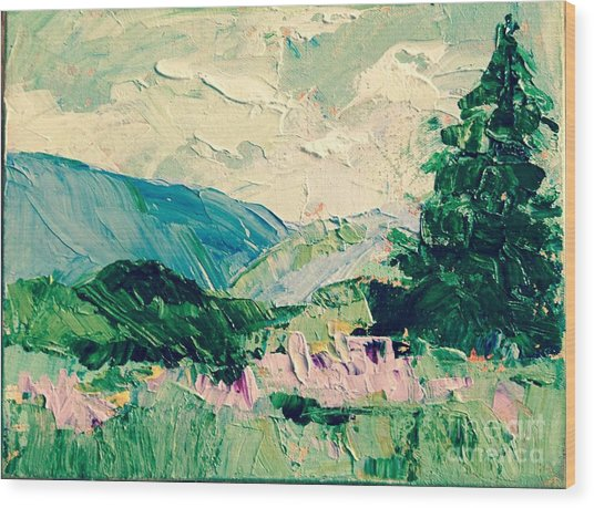 Appalachian Summer Wood Print