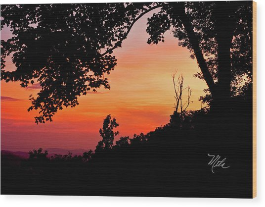 Mountain Sunrise Wood Print