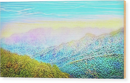 Mountain Sunrise Perceptions Wood Print
