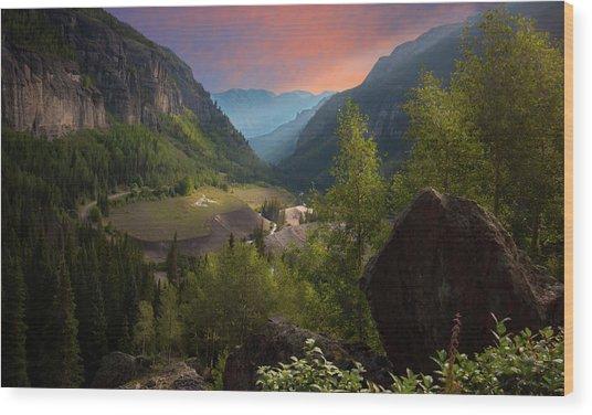 Mountain Time Wood Print