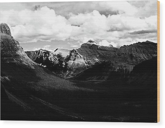 Mountain Valley Landscape Wood Print