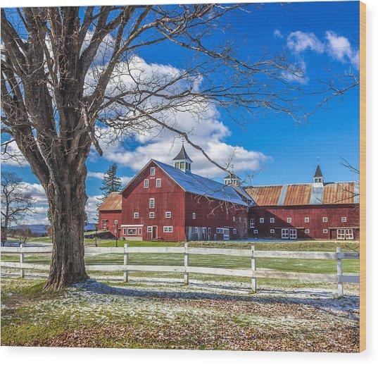 Mountain View Barn Wood Print