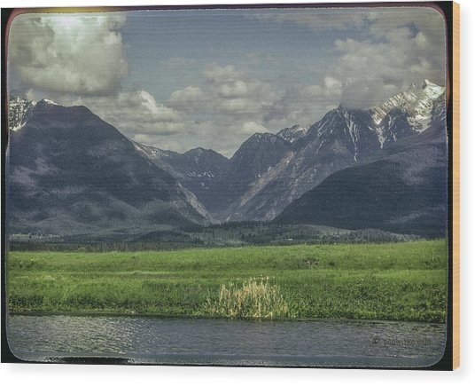 Mountain View Montana.... Wood Print