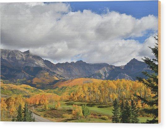 Mountain Village Telluride Wood Print
