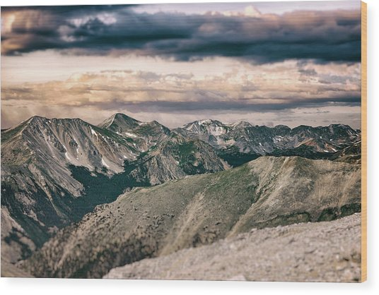 Mountain Vista Wood Print by Garett Gabriel