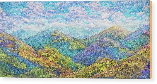 Mountain Waves - Boulder Colorado Vista Wood Print