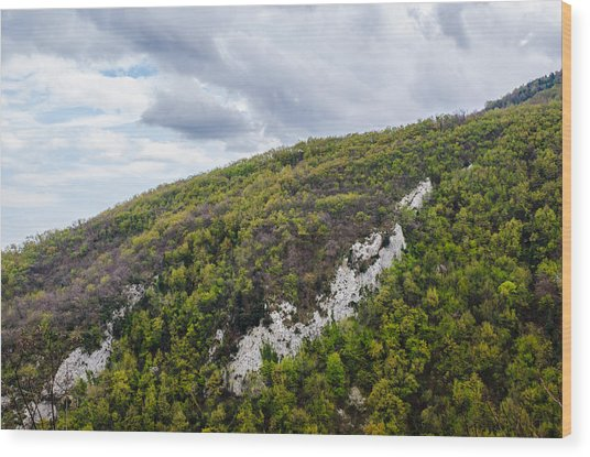 Mountains And Skies Wood Print by Andrea Mazzocchetti