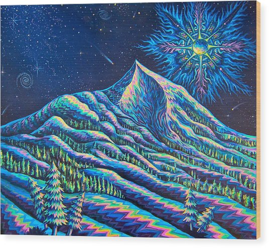 Mountains I Have Known And Loved Wood Print