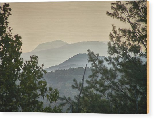 Wood Print featuring the photograph Mountains In The Distance by Willard Killough III