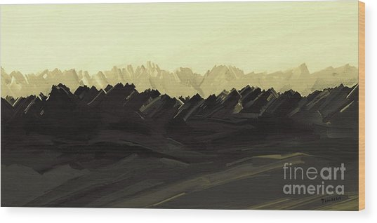 Mountains Of The Mohave Wood Print