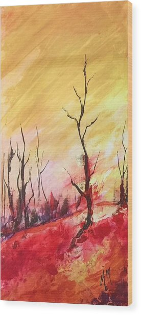 Mountainside #1 Wood Print