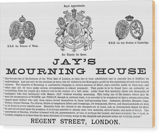 Mourning House, 1891 Wood Print by Granger