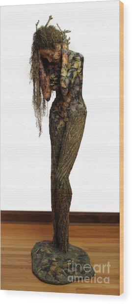 Mourning Moss A Sculpture By Adam Long Wood Print