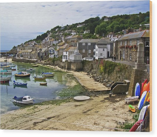 Mousehole Harbour, Cornwall Wood Print