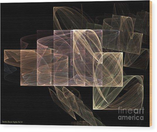 Wood Print featuring the digital art Movement And Light by Sandra Bauser Digital Art