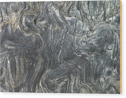 Movement In The Earth Wood Print