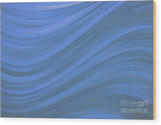 Movement In Waves Wood Print