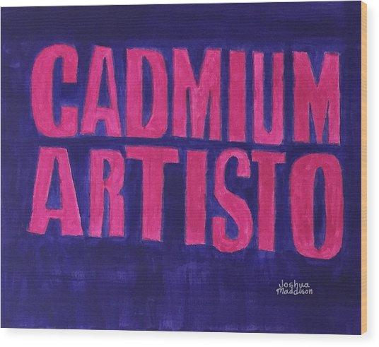 Movie Logo Cadmium Artisto Wood Print