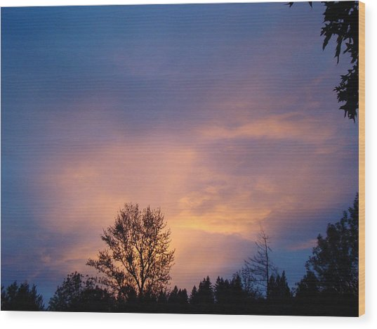 Moving Sunset Wood Print