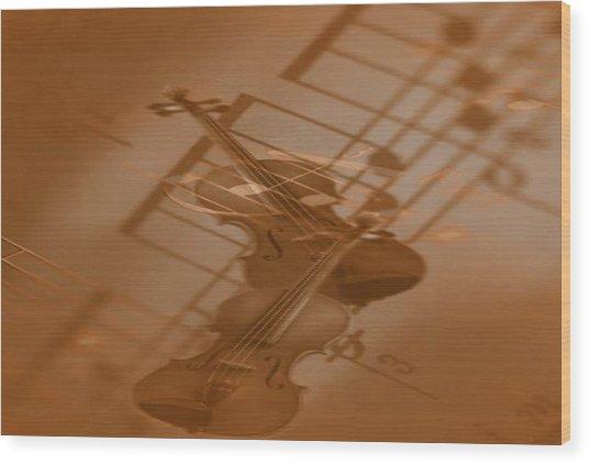 Mozart -little Night Music- Wood Print by Norman Reutter