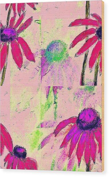 Mprints - Daisies 1 Wood Print