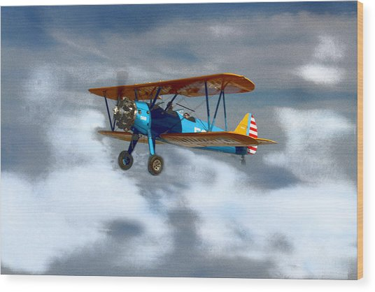 Mprints - Into The Wild Blue Yonder Wood Print