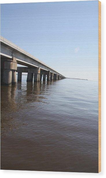 Mprints - Railroad Bridge Wood Print by M  Stuart