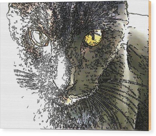 Mprints - Bad To The Bone Wood Print