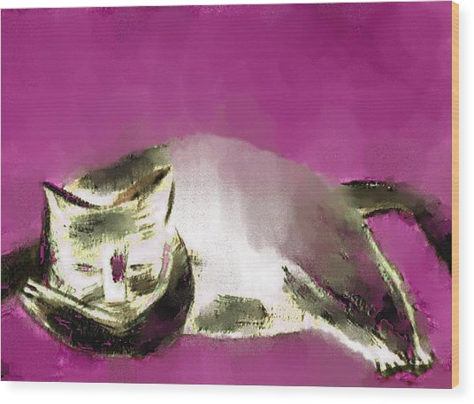 Mprints - The Color Purple Wood Print