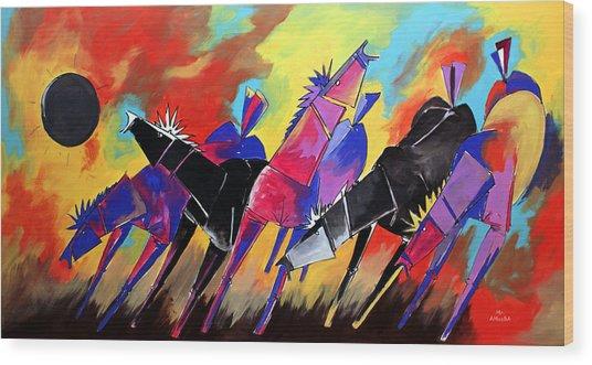 Mr Ameeba 5 Wood Print