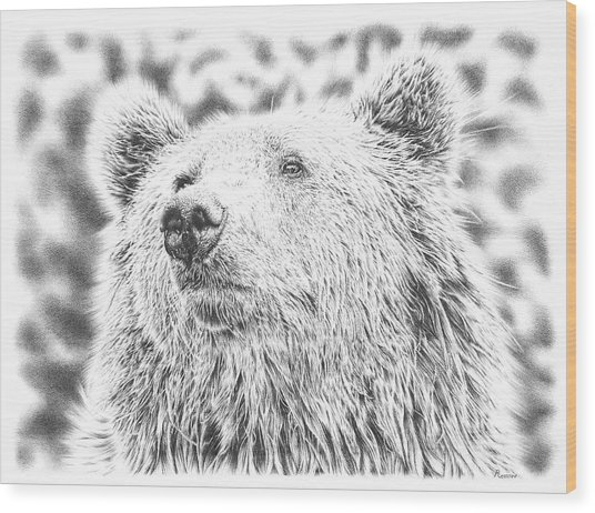 Mr. Bear Wood Print