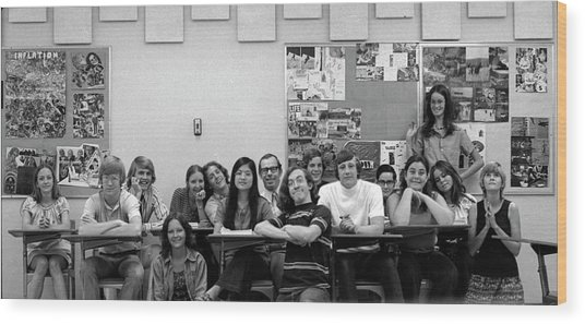 Mr Clay's Ap English Class - Cropped Wood Print