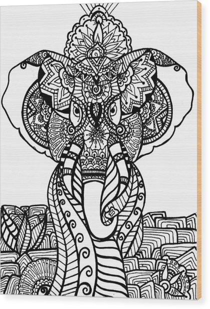 Mr. Elephante Wood Print