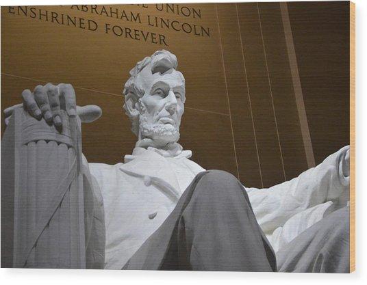 Mr. Lincoln Wood Print