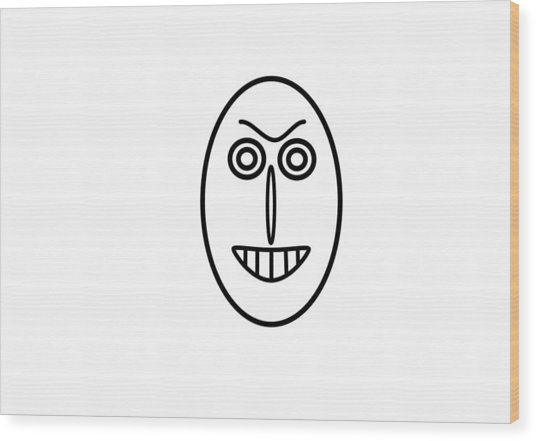 Mr Mf Has A False Smile Wood Print