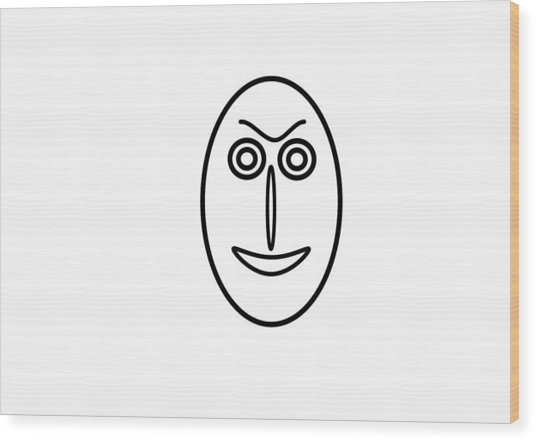 Mr Mf Is Friendly  Wood Print