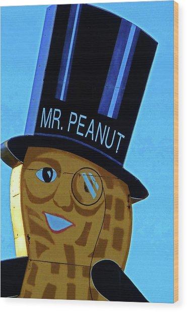 Mr Peanut 2 Wood Print