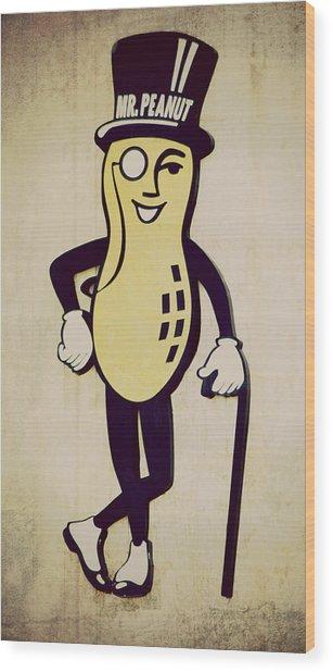 Mr Peanut Wood Print