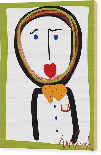 Mr. Tidy Boy Wood Print