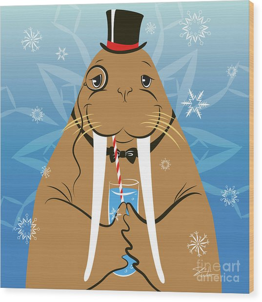 Mr. Walrus Wood Print