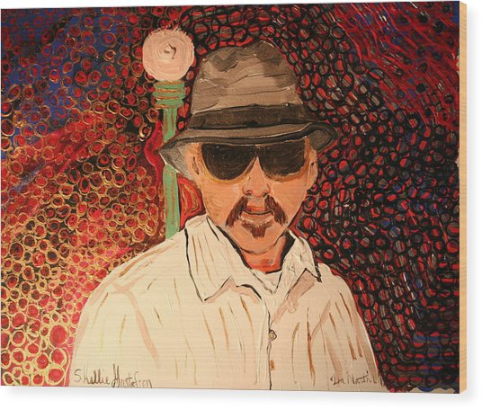 Mr.perez Wood Print by Shellie Gustafson