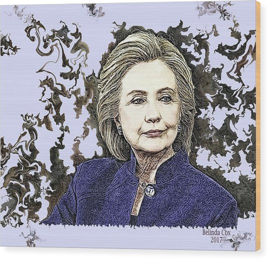 Mrs Hillary Clinton Wood Print
