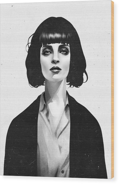 Mrs Mia Wallace Wood Print