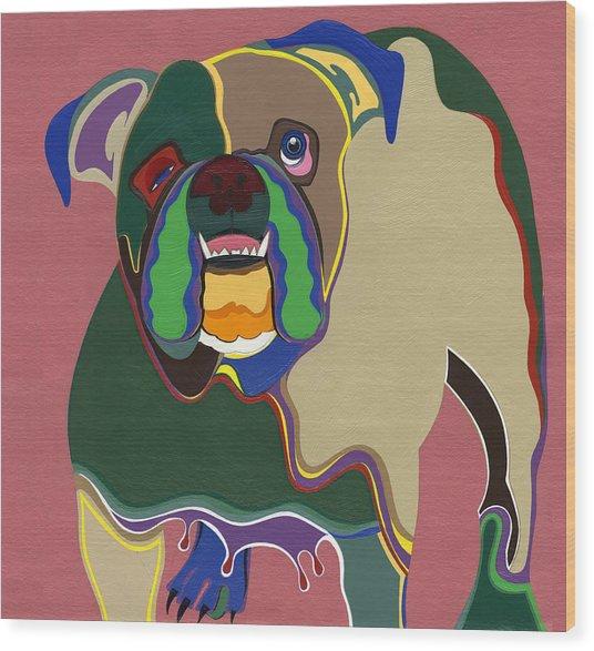 Ms Diva The English Bulldog Wood Print