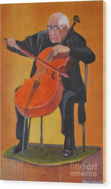 Mstislav Leopoldovich Rostropovich Wood Print by Kostas Koutsoukanidis