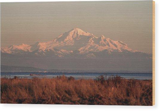Mt Baker At Sunset Wood Print