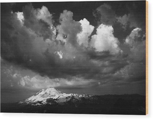 Mt. Baker Thunderstorm. Wood Print by Alasdair Turner