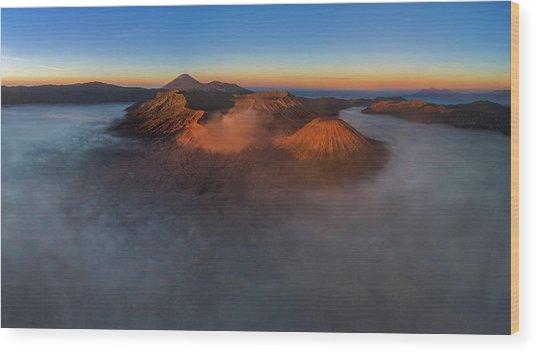 Mt Bromo Sunrise Wood Print